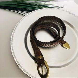 Capezio Vintage 1990 leather belt w/ bronze buckle